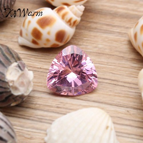 zilzol 10.32ct Unheated Pink Sapphire 12mm Trillion Cut AAAA+ Color Loose Gemstone for DIY jewelry Rings Necklaces Crafts (Gemstone Trillion Necklace)