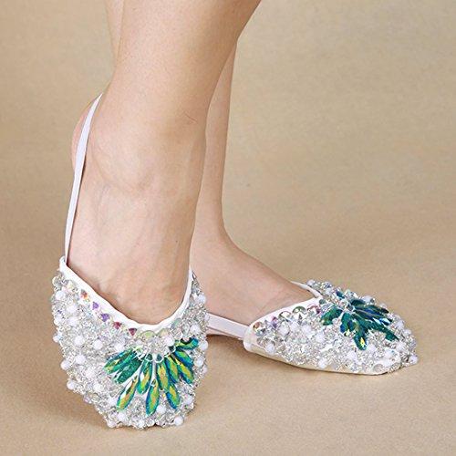Calcifer® marca nueva vientre/ballet zapatos de baile disfraz regalo para gran fiesta Navidad verde