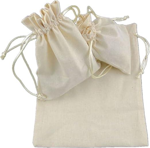 wicemoon haz de algodón y lino Bolsa cordón bolsa pequeño lino ...