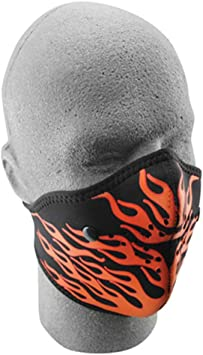 RED FLAMES ZANheadgear Neoprene Half Face Mask