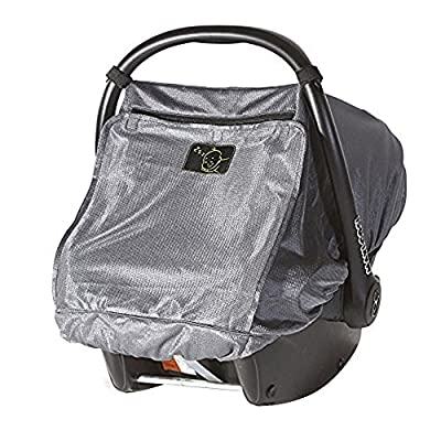 Snoozeshade Infant Carriers Deluxe Breathable Mesh Infant Car Seat Sunshade and Canopy from SnoozeShade