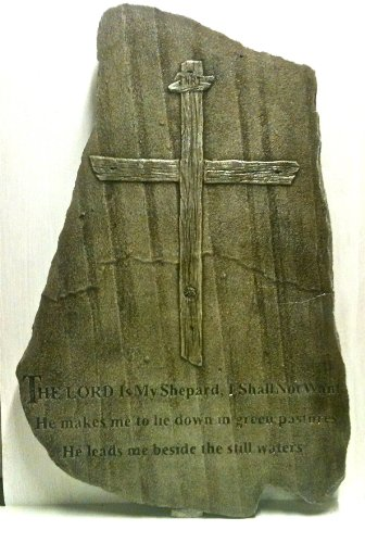 (Religious Cast Stone Psalms Christian Garden Plaque Decorative Christmas Gift Shale Finish)
