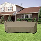 SunPatio Outdoor Curved Sectional Sofa Cover with
