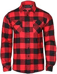 Men's Lightweight Hoodie Plaid Flannel Shirt