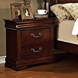Mandura English Style Cherry Finish Bedroom Nightstand