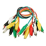 TOOGOO(R) 10 Pcs Meter Colored Insulating Alligator Clip Test Lead Cable 10.8''