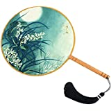 Elegant Hand Fan Aulic Circular Fan Chinese Fans Handheld Fan Mandarin Fan N