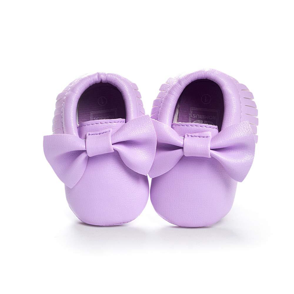 Morbuy Newborn Infant First Walking Shoes Boy /& Gril Baby Cute Sneaker Fringed Bow Anti-Slip Soft Sole Prewalker Keep Warm Crib Shoes