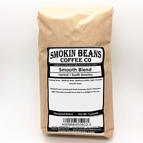 5 LBS SIGNATURE SMOOTH BLEND IN A BURLAP BAG - Includes Coffee Beans from South America +Central America, Specialty-Grade Green Unroasted Whole Coffee Beans, for Home Coffee Roasters
