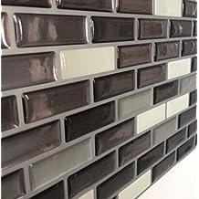 Tilewoo Mosaic Tile Natural Varied for Backsplash and Bathroom Walls and Kitchen Pack 0f 4