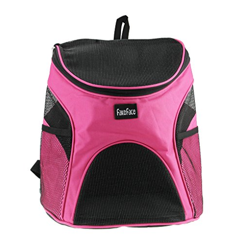 Puppy Soft-sided Mesh Carrier Backpack Pup Front Chest Back Pack w/ Comfortable Adjustable Shoulder Straps Outdoor Travel Cat Little Dog House for Small Dogs Cats Carrier Tote Bag ()