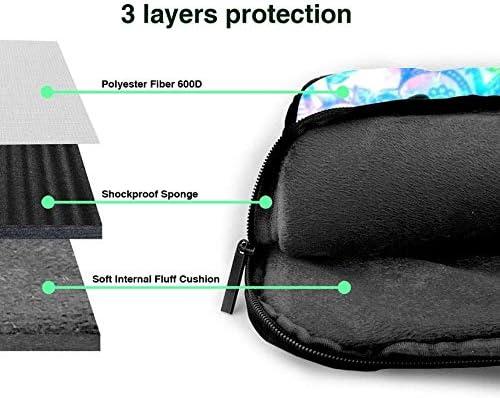 Pour The Colorful Floral in Space 15.6 inch Laptop Messenger Bag Protective Shoulder Sleeve Case,Laptop Bag Briefcase