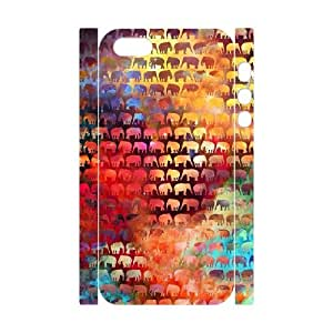 ZK-SXH - The Happy Elephant Diy 3D Cell Phone Case for iPhone 5,5G,5S, The Happy Elephant Personalized 3D Cover Case