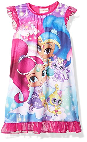 [Nick Jr Shimmer And Shine and Pets Nightgown for Little Girls (4)] (Genie Outfit)