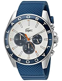Lacoste Men's 2010854-WESTPORT White/Blue Watch