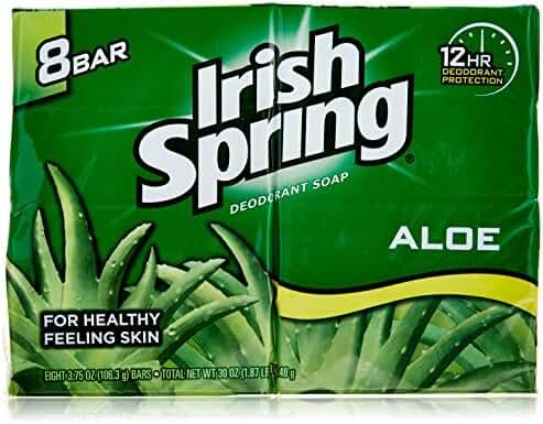 Irish Spring Aloe Bar Soap, 8 ct