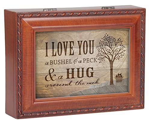 Frame Music Box (I Love You A Bushel & A Peck Wood Finish Jewelry Music Box Plays Tune You Are My)