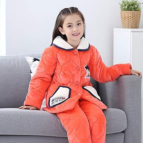 Coral Pyjama Pyjamas Pour À Épaississement Oppp Filles Grands Hiver Chauds Costume Fleece Enfants Domicile Service nwO0kP