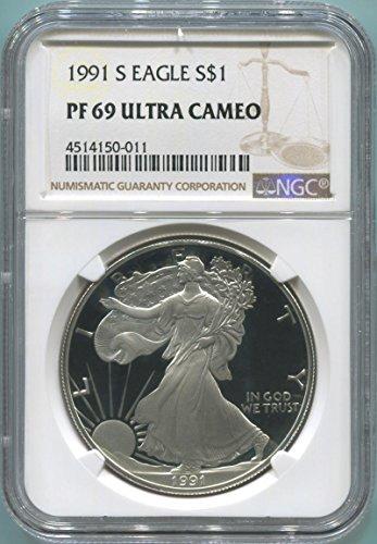1991 S Silver Eagle Silver Eagle PF69 NGC