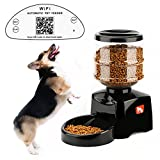 Tera Wi-Fi Control Electronic Automatic Dry Food Pet Feeder 5L Capacity for Dogs and Cats Black