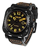LUM-TEC G7 Black/Orange Skeleton Men's Watch