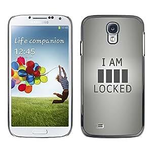 Be Good Phone Accessory // Dura Cáscara cubierta Protectora Caso Carcasa Funda de Protección para Samsung Galaxy S4 I9500 // Locked Funny Quote Sign Code Art Life Love
