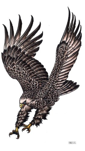 Big Black Eagle Temporary Tattoos