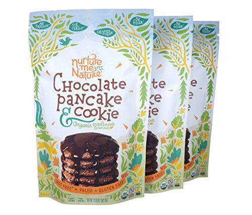 Paleo Nut Free Chocolate Pancake & Cookie Baking Mix / USDA Organic (Pack of 3) by Nurture Me Nature