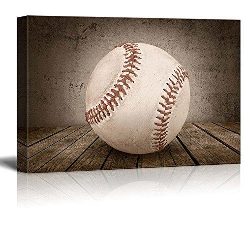 Wall26 Home Run Baseball Rustic Rectangular Sport Panel Celebrating American Sports Traditions Canvas Art Home Decor 16x24 Inches