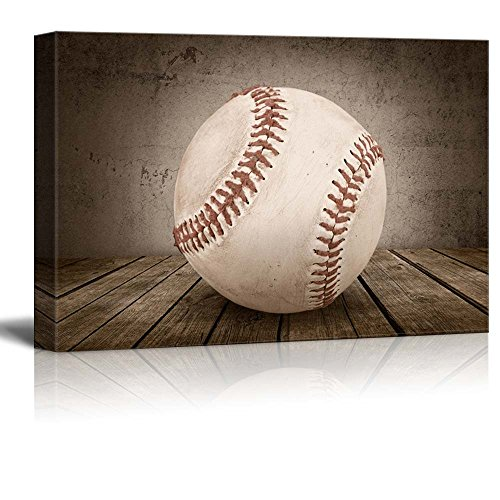Home Run Baseball Rustic Rectangular Sport Panel Celebrating American Sports Traditions