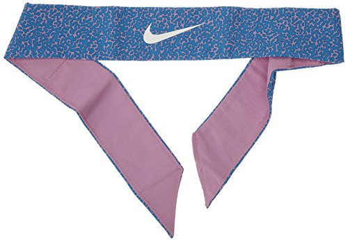Nike Women's Swoosh Tennis Bandana One Size Fits Most Blue Pink