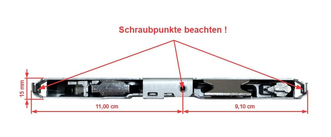 Fuhr Reparatur Schlosskasten Hauptschloss Multisafe 855WE Dornma/ß: 65mm // Entfernung: 72mm incl SN-TEC/® Montageanleitung 62mm