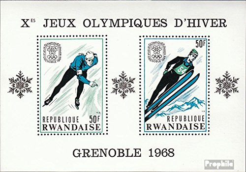 Rwanda block12a (Complete.Issue.) 1968 Olympic. Winter Games ´68, Grenoble (Stamps for Collectors) Winter Sports