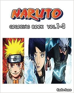 NARUTO : Coloring Book : Vol.1 - 3: Adult Coloring Book: Amazon.de ...
