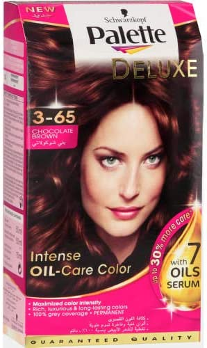 b5f32dfc79 Schwarzkopf Palette Deluxe Intense Oil Care Color, 3-65 Chocolate Brown,  115ml