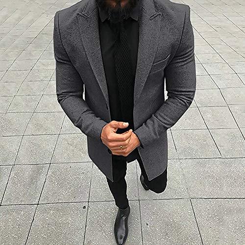 Manteau Gris Slim À Hiver Blouson Aimee7 Foncé Homme Veste Manche Fit Longue Tops Automne Costume wOa8B