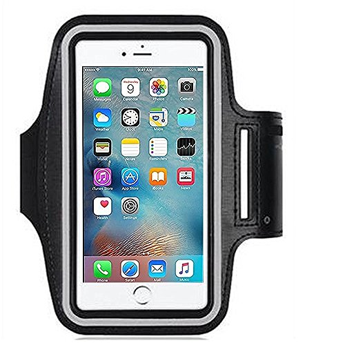 1Pack Samsung Galaxy S7 Armband, ibarbe build-in Screen Protector Sports for Galaxy S7 S6 edge Note 4/3 iPhone 6s 6 7 plus 5,5S,5C,iPods with Key Holder Water Resitant