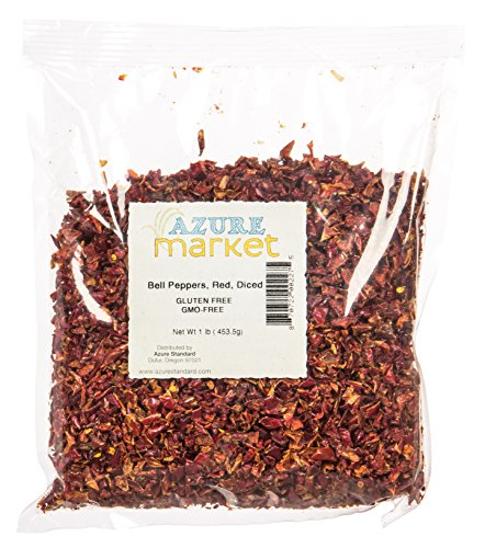 Green Sweet Peppers (Azure Market Bell Peppers, Red, Diced, Dehydrated - 1 lb)