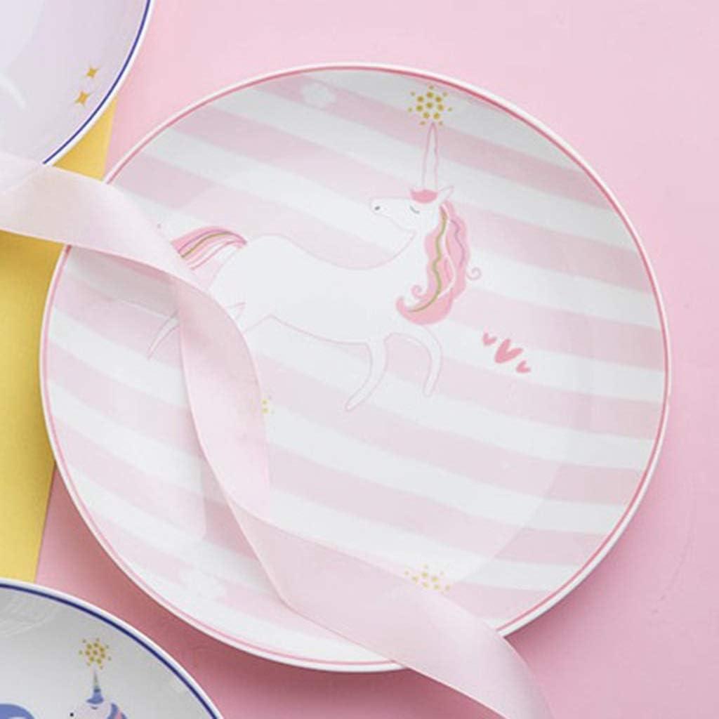 petit-d/éjeuner coeur de fille look bonne personnalit/é cr/éatif dessert original assiette en porcelaine coeur de salade avec c/œur de fille e MISSYOU Assiette en porcelaine Licorne plats occidentaux