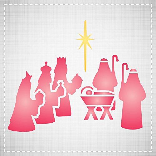CHRISTMAS NATIVITY STENCIL (size: 3.25