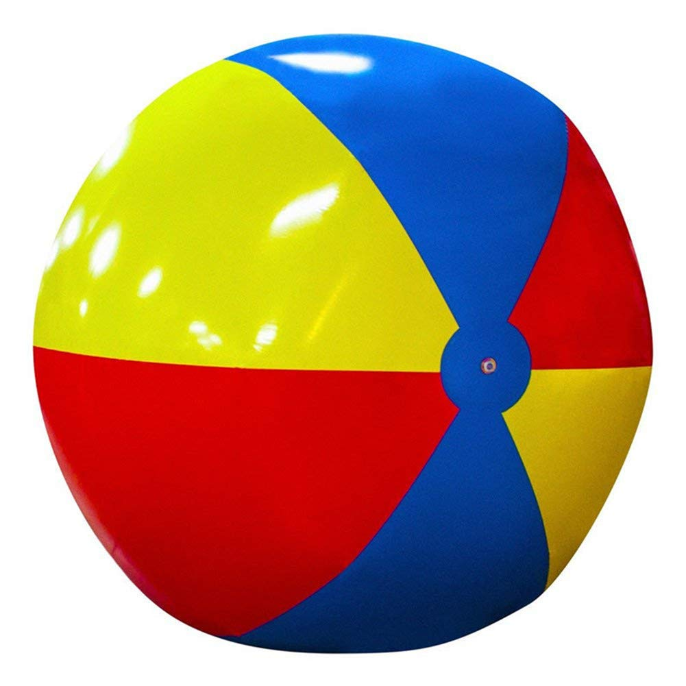 SUWIN 200cm Inflatable Large Beach Ball, Three-Color Stitching PVC Ball, Outdoor Beach Play Ball, Water Toy by SUWIN