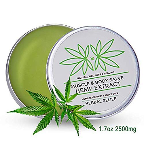 2500MG - Pain Relief Hemp Oil Salve, Fast Acting & Natural - Knee, Muscle, Joint, Neck & Back Pain Relief