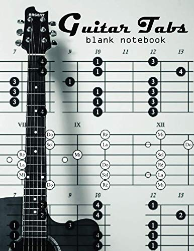 Guitar Tabs Blank Notebook: Sheet Music Templates with 6-String Guitar Tablature for Songwriters, Musicians, and Theory Students with 100 Large Sheets 8.5 x 11 inches