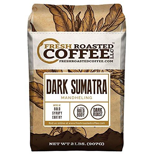 Dark Sumatra, Whole Bean, Fresh Roasted Coffee LLC (2 lb.) -