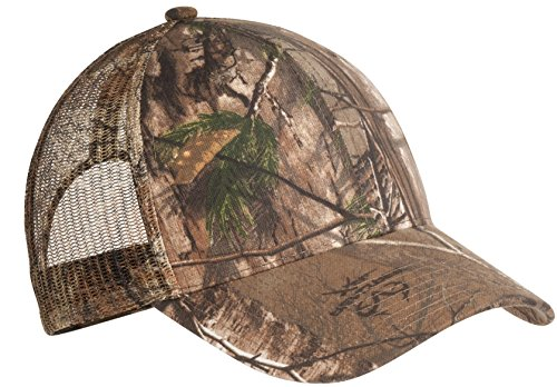 Camo Full Back Cap - Port Authority Men's Pro Camouflage Series Cap with Mesh OSFA Realtree Xtra
