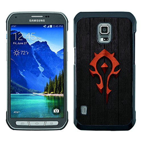 Red World of Warcraft Horde Badge Black Samsung Galaxy S5 Active Shell Case,Luxury Cover