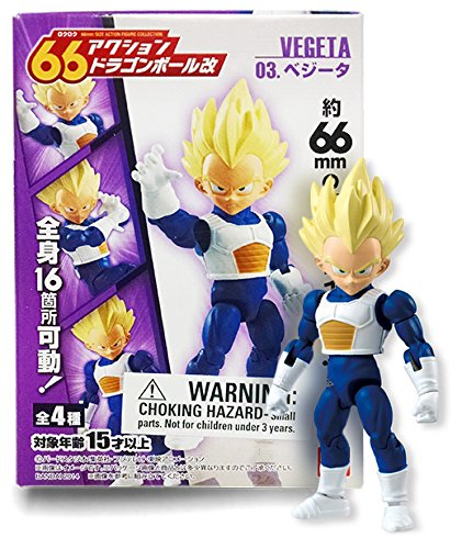 Dragon Ball Kai 66 Action Dash Super Saiyan Goku Mini Action Toy Figure Bandai