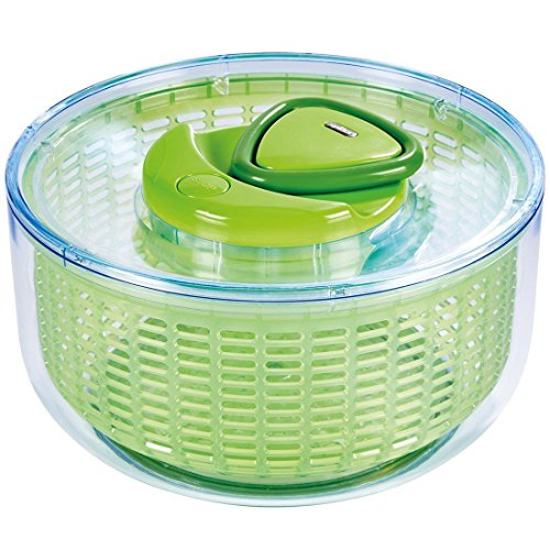 (Zyliss Easy Spin Salad Spinner, Green, Large)