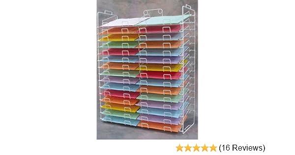 Amazon new 30 slot scrapbook paper wire display rack 12 x 12 amazon new 30 slot scrapbook paper wire display rack 12 x 12 inch home kitchen malvernweather Images