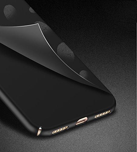 SMTR Huawei Y6 2017 Funda, Calidad Premium Cubierta Delgado Caso de PC Hard Gel Funda Protective Case Cover para Huawei Y6 2017 -Oro Negro